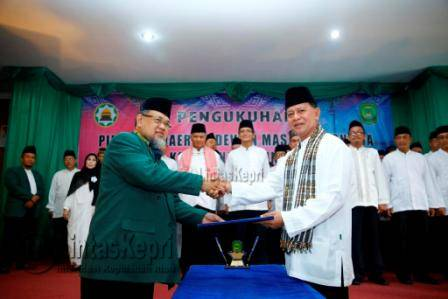 Syahrul Jabat Ketum DMI Kota Tanjungpinang Masa Bakti 2015-2020