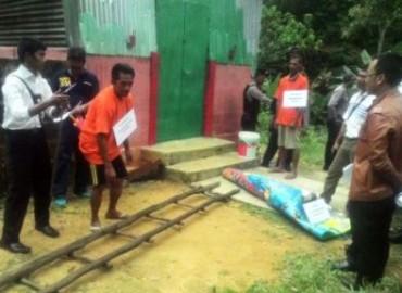 50 Adegan Diperagakan Tersangka Pembunuh Yap Shong Hok Dalam Rekonstruksi