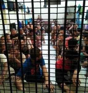 Penghuni Sel Tahanan Mapolres Tanjungpinang Lebihi Kapasitas