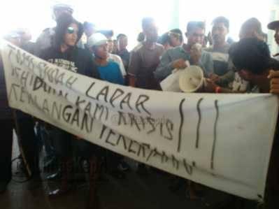 Buruh Tanjungpinang Tuntut Bebaskan Ekspor Impor Kepri