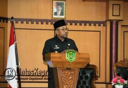 Penyampaian Pidato Walikota Tanjungpinang Pengantar Ranperda