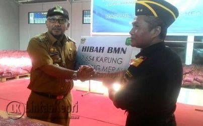 DJBC Khusus Kepri Hibahkan 2654 Karung Bawang Merah Ke Pemko Tanjungpinang