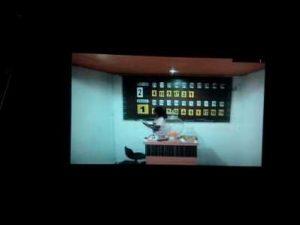 Angka taruhan yang terlihat di ruang KTV.