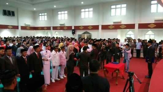 Walikota Tanjungpinang Lantik 467 Pejabat Eselon III dan IV.