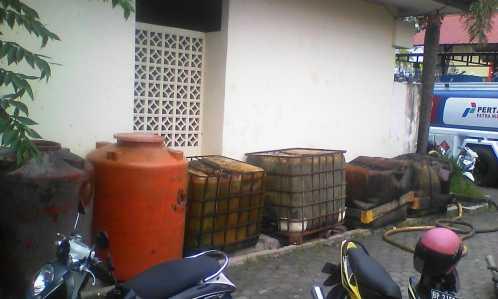 Inilah solar yang diamankan anggota Satreskrim Polres Tanjungpinang.