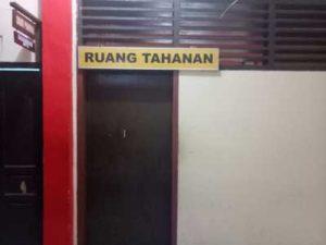 Ruang Tahanan di Polres Tanjungpinang.
