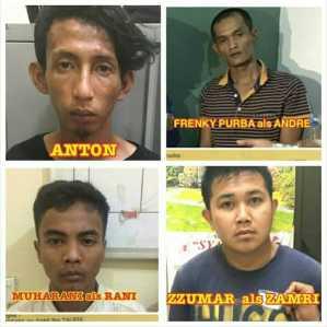 Foto 4 orang Tahanan yang kabur