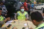 Budayakan Tertib Berlalu Lintas, Polisi Gelar Razia Didepan Markas Sendiri