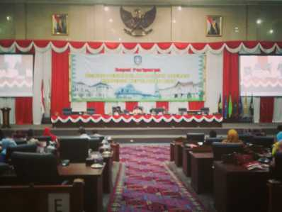 Rapat Paripurna DPRD Kepri, Kamis (9/2).
