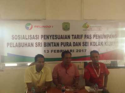 Konferensi Pers BUMD bersama Pelindo I cabang Tanjungpinang di kantor Pelindo Tanjungpinang, Rabu (15/2).