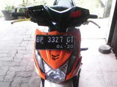 Sepeda motor yang dikendarai Noridah.