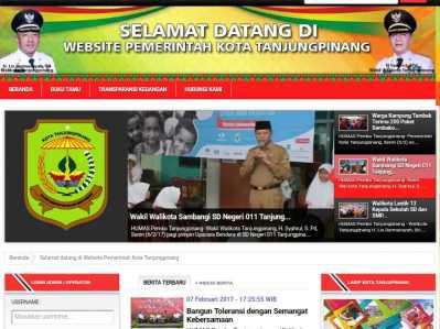 Situs Resmi (Website) tanjungpinangkota.go.id