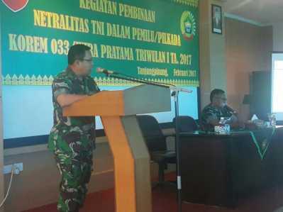 Komandan Korem 033/Wira Pratama, Brigjen TNI Fahri .