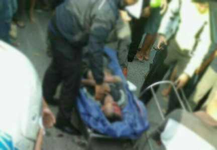 Pengendara sepeda motor Yamaha Mio Soul bernomor polisi BP 5448 TJ, tewas saat dievakuasi