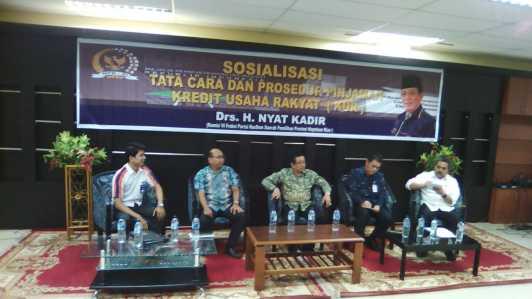 Sosialisasi Tata Cara dan Prosedur Pinjaman Kredit Usaha Rakyat (KUR).