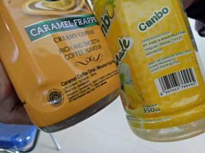 Perbandingan Produk berlogo halal dengan produk tanpa logo halal.