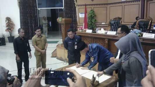 Pemko Usulkan Dua Ranperda 2017 ke DPRD Tanjungpinang.