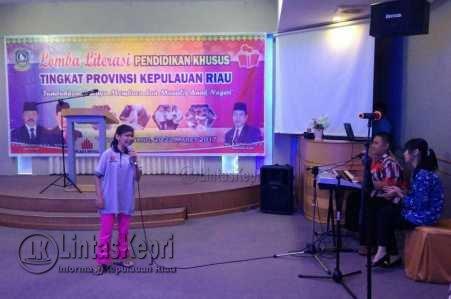 Lomba Literasi Pendidikan Khusus Tingkat Provinsi yang digelar Dinas Pendidikan Provinsi Kepri.