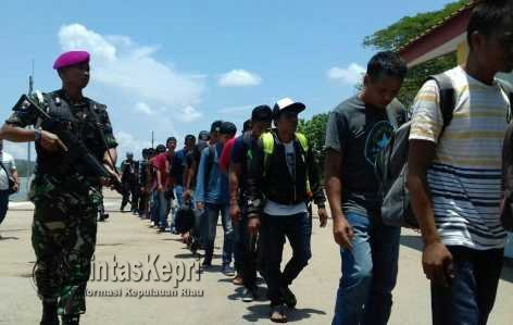WFQR Lantamal IV Gagalkan Penyelundupan TKI Ilegal Ke Malaysia.