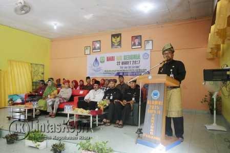 Walikota Tanjungpinang, Lis Darmansyah saat menyampaikan kata sambutan di Hari Air Sedunia yang jatuh setiap tanggal 22 Maret.
