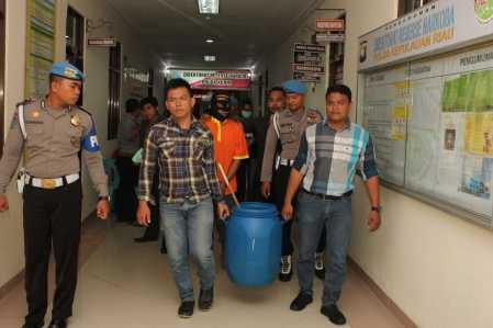 Direktorat Resnarkoba Polda Kepri Musnahkan Barang Bukti Sabu, Kamis (9/3).