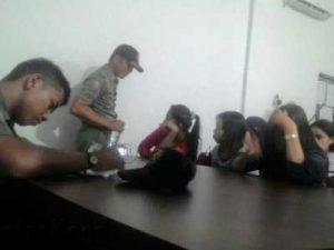 Wanita yang terjaring di kamar kos saat didata petugas Satpol PP Tanjungpinang.