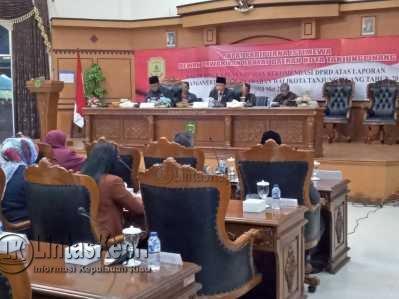 Rapat Paripurna Istimewa DPRD Tanjungpinang Tentang LKPj Walikota Tanjungpinang Tahun 2016.