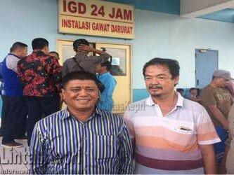 Wakil Bupati Bintan, Dalmasri Syam saat di IGD RSUP Kepri.