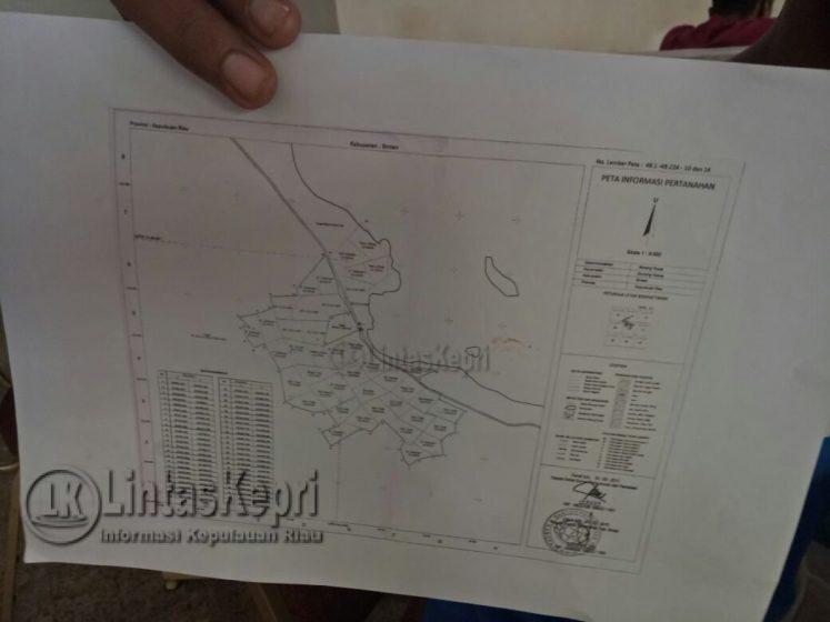 Inilah Peta Lahan Tanah Seluas 80 hektar milik H. Dahnoer Yoesoef.