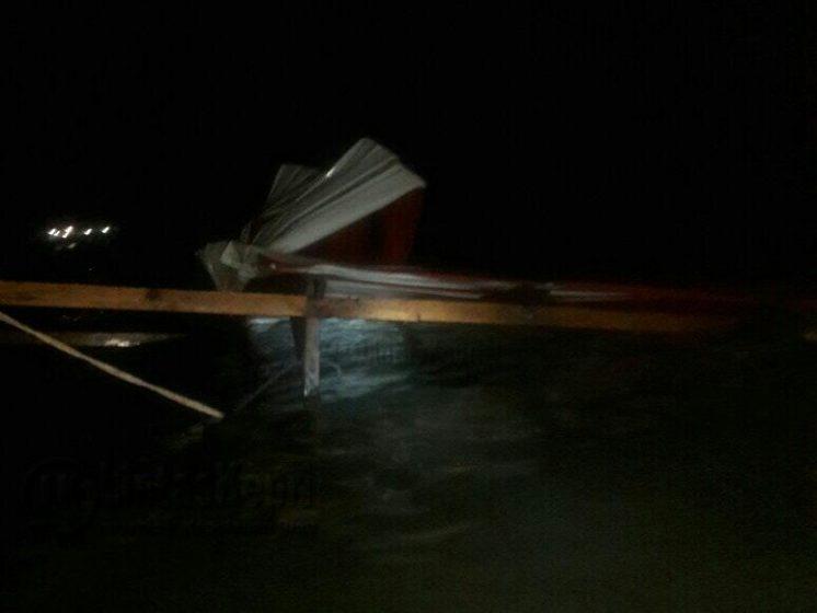 Inilah Rakit (Pokcai) yang dikabarkan tenggelam diduga mengalami kebocoran, Sabtu (15/7) petang.