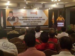 Penyampaian Visi Misi Bakal Calon Walikota dan Wakil Walikota Tanjungpinang Penjaringan DPC Hanura Tanjungpinang.
