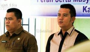 Bupati Bintan, H. Apri Sujadi, S.Sos, Bersama Kepala Dinas Pemberdayaan Masyarakat Desa Kabupaten Bintan, Ronny Kartika, S.STP.