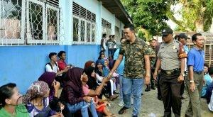 Bupati Bintan, Apri Sujadi saat mengunjungi Pulau Dendun Kec Mantang