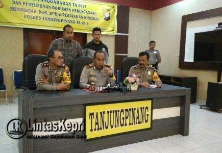 471 Kasus Kriminal Terjadi di Tanjungpinang Sepanjang 2017