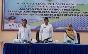 Para pimpinan lembaga Eksekutif dan Legislatif saat menyanyikan lagu Indonesia Raya.