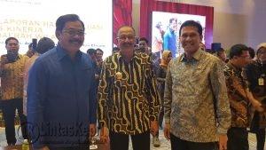 Dari kiri, Gubernur Kepri Nurdin Basirun, Bupati Natuna Hamid Rizal dan Menpan RB Asman Abnur.