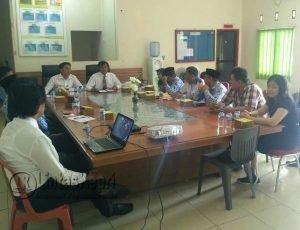 Rapat Koordinasi Monitoring Stabilitas Harga Sembako oleh Satgas Pangan Natuna.