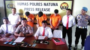 Konfernsi Pers Pengungkapan Kasus Pencurian di Ranai, oleh Polres Natuna.