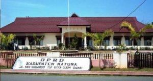 Kantor DPRD Natuna, di Jalan Yos Sudarso, Ranai.