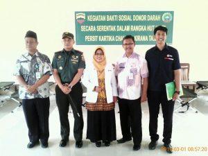Foto bersama usai pembukaan giat Donor Darah di SMKN 1 Bunguran Timur.