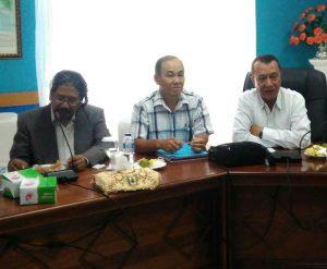 Pihak PT. Borneo Subur Mandiri saat memberikan pemaparan terkait rencananya membuka lahan kelapa hybrida di Natuna.
