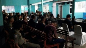 Suasana malam Praja Wibawa di Kantor Satpol-PP Natuna.