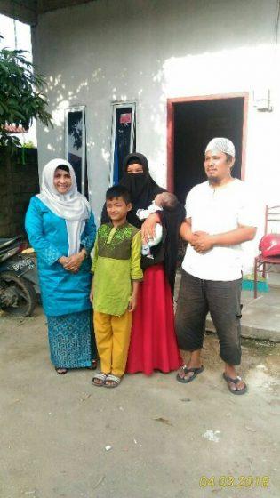 Calon Wakil Walikota Tanjungpinang Rahma, ketika melihat kondisi Arkan Dzakiandra Al Ghifari Zega, bayi yang baru berumur 51 hari divonis dokter mengalami jantung bocor.