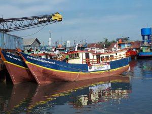 Kapal Bantuan Kemenhub RI untuk Pemkab Natuna, saat bersandar di Pelabuhan Soekarno-Hatta, Kota Makassar, Sulsel.