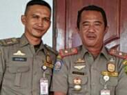 Kepala Seksi Operasi Ketentraman dan Ketertiban Umum (Kasi Ops Trantibmum) Satuan Polisi Pamong Praja (Satpol PP) Kota Tanjungpinang, Supriadi (kanan).