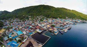 Kota Tarempa, Ibukota Kabupaten Kepulauan Anambas (KKA).