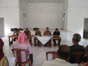 Babinsa Tanjungpala Serka M. Sitorus tampak menghadiri kegiatan Musrenbang.