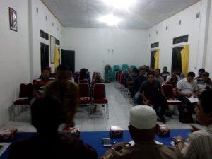 Suasana Rapat Koordinasi PPK bersama PPS se Kecamatan Bunguran Timur.