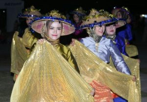 Penampilan Tari Tradisional Melayu turut meriahkan Peringatan HPN ke 73 Natuna.