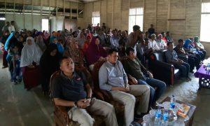 Temu ramah bersama warga di Aula Pertemuan Desa Tanjung Sebauk.